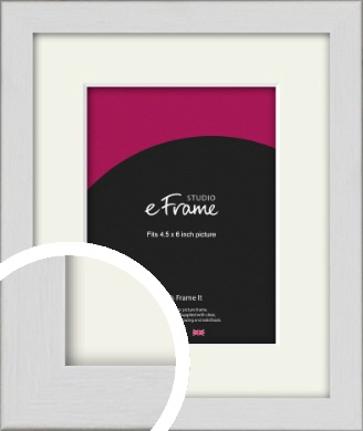 Minimalist Candlewick White Picture Frame & Mount, 4.5x6