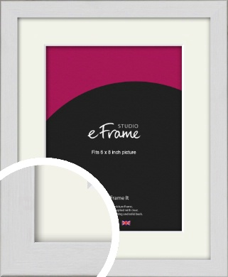 Minimalist Candlewick White Picture Frame & Mount, 6x8