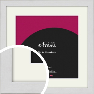 Minimalist Candlewick White Picture Frame & Mount, 8x8