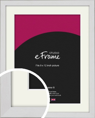 Minimalist Candlewick White Picture Frame & Mount, 9x12