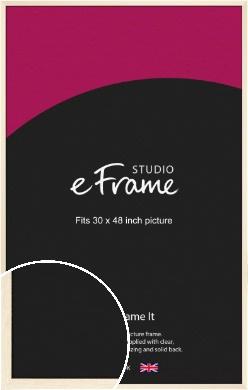 Soft Antique Cream Picture Frame, 30x48