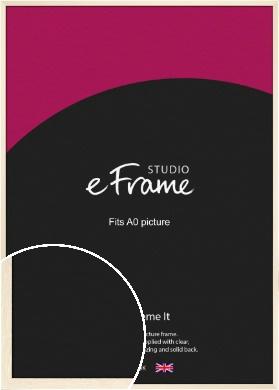 Soft Antique Cream Picture Frame, A0 (841x1189mm) (VRMP-229-A0)