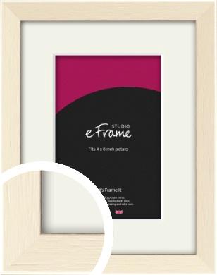 Soft Antique Cream Picture Frame & Mount, 4x6