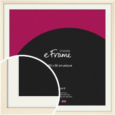 Soft Antique Cream Picture Frame & Mount, 50x50cm (VRMP-229-M-50x50cm)