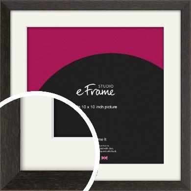 Original Open Grain Narrow Black Picture Frame & Mount, 10x10