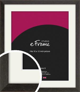 Original Open Grain Narrow Black Picture Frame & Mount, 10x12