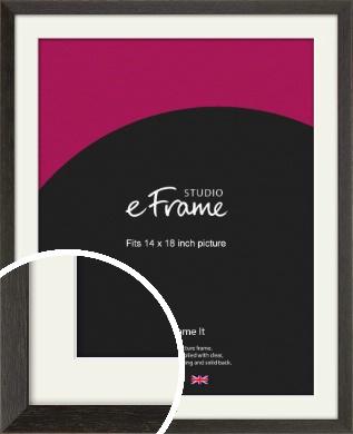Original Open Grain Narrow Black Picture Frame & Mount, 14x18