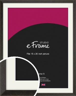 Original Open Grain Narrow Black Picture Frame & Mount, 15x20