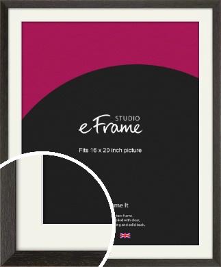 Original Open Grain Narrow Black Picture Frame & Mount, 16x20