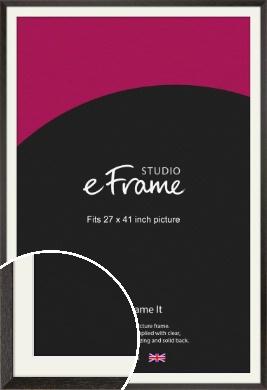 Original Open Grain Narrow Black Picture Frame & Mount, 27x41