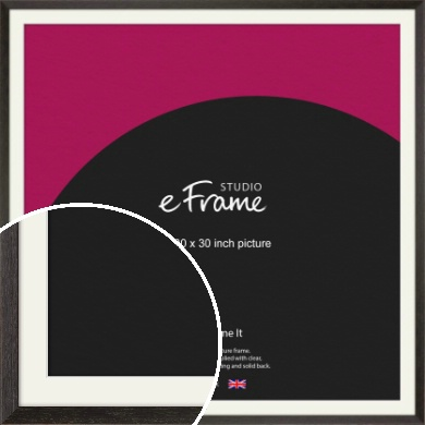 Original Open Grain Narrow Black Picture Frame & Mount, 30x30
