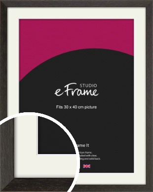Original Open Grain Narrow Black Picture Frame & Mount, 30x40cm (VRMP-230-M-30x40cm)