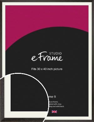 Original Open Grain Narrow Black Picture Frame & Mount, 30x40