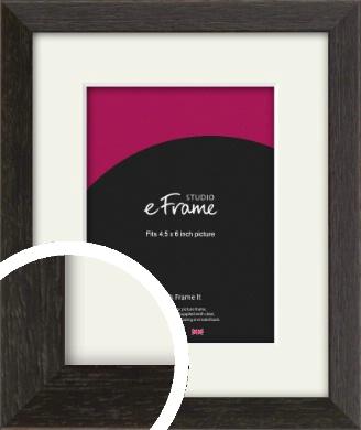 Original Open Grain Narrow Black Picture Frame & Mount, 4.5x6