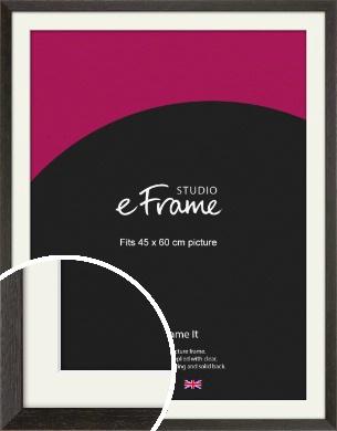 Original Open Grain Narrow Black Picture Frame & Mount, 45x60cm (VRMP-230-M-45x60cm)