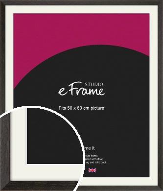 Original Open Grain Narrow Black Picture Frame & Mount, 50x60cm (VRMP-230-M-50x60cm)