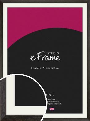 Original Open Grain Narrow Black Picture Frame & Mount, 50x70cm (VRMP-230-M-50x70cm)