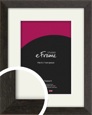 Original Open Grain Narrow Black Picture Frame & Mount, 5x7