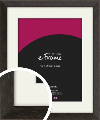 Original Open Grain Narrow Black Picture Frame & Mount, 7x9