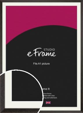 Original Open Grain Narrow Black Picture Frame & Mount, A1 (594x841mm) (VRMP-230-M-A1)