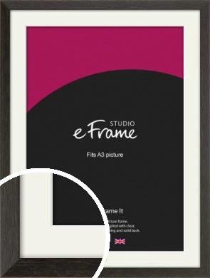 Original Open Grain Narrow Black Picture Frame & Mount, A3 (297x420mm) (VRMP-230-M-A3)