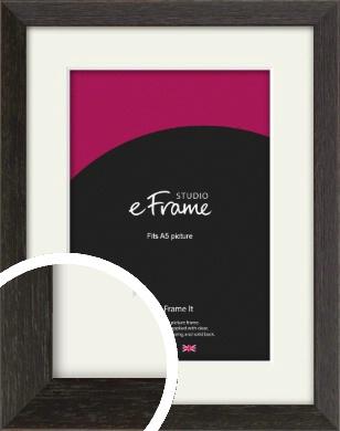 Original Open Grain Narrow Black Picture Frame & Mount, A5 (148x210mm) (VRMP-230-M-A5)