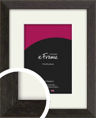 Original Open Grain Narrow Black Picture Frame & Mount, A6 (105x148mm) (VRMP-230-M-A6)