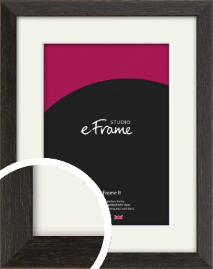 Original Open Grain Narrow Black Picture Frame & Mount (VRMP-230-M)