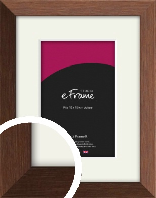 Chestnut Brown Picture Frame & Mount, 10x15cm (4x6