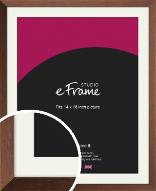 Chestnut Brown Picture Frame & Mount, 14x18