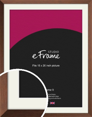 Chestnut Brown Picture Frame & Mount, 15x20