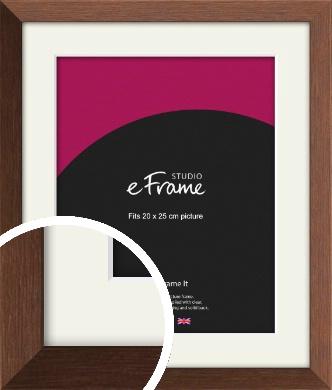 Chestnut Brown Picture Frame & Mount, 20x25cm (8x10