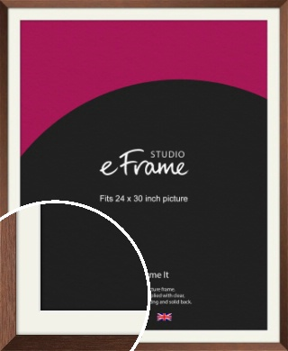 Chestnut Brown Picture Frame & Mount, 24x30