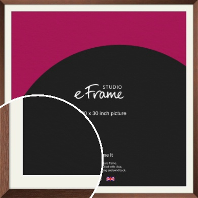 Chestnut Brown Picture Frame & Mount, 30x30