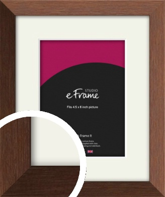 Chestnut Brown Picture Frame & Mount, 4.5x6