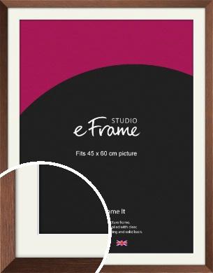 Chestnut Brown Picture Frame & Mount, 45x60cm (VRMP-594-M-45x60cm)