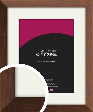 Chestnut Brown Picture Frame & Mount, 6x8