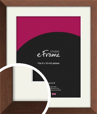 Chestnut Brown Picture Frame & Mount, 8x10
