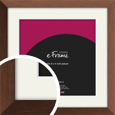 Chestnut Brown Picture Frame & Mount, 8x8