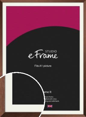 Chestnut Brown Picture Frame & Mount, A1 (594x841mm) (VRMP-594-M-A1)