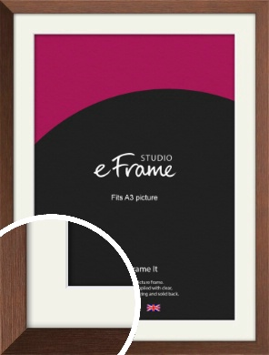 Chestnut Brown Picture Frame & Mount, A3 (297x420mm) (VRMP-594-M-A3)