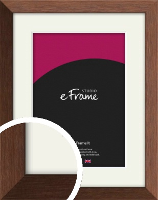 Chestnut Brown Picture Frame & Mount (VRMP-594-M)