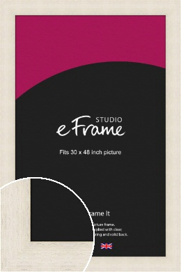 Extra Wide Warm Cream Picture Frame, 30x48