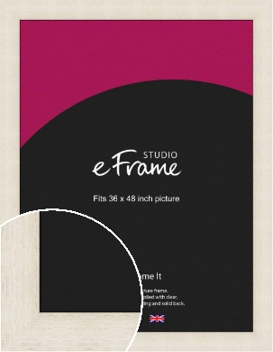Extra Wide Warm Cream Picture Frame, 36x48
