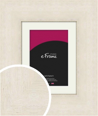Extra Wide Warm Cream Picture Frame & Mount (VRMP-605-M)