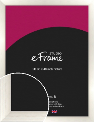 Chunky Cream Picture Frame, 36x48