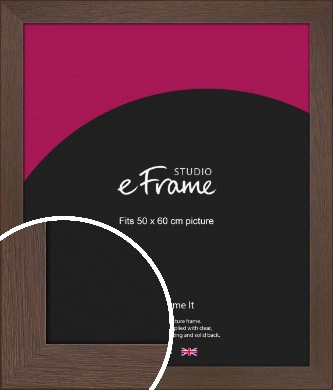 Smoked Brown Picture Frame, 50x60cm (VRMP-1042-50x60cm)