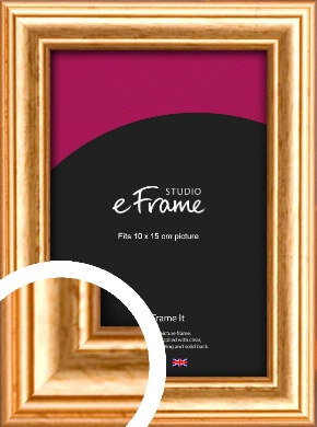 Slightly Textured Warm Gold Picture Frame, 10x15cm (4x6