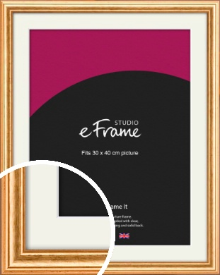Slightly Textured Warm Gold Picture Frame & Mount, 30x40cm (VRMP-206-M-30x40cm)