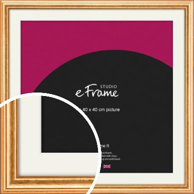 Slightly Textured Warm Gold Picture Frame & Mount, 40x40cm (VRMP-206-M-40x40cm)